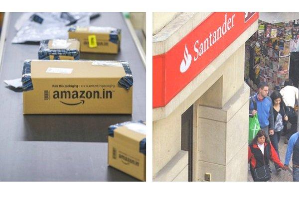 """ARTÍCULO: """"Santander logra acuerdo con Amazon para ventas con tarjeta"""""""