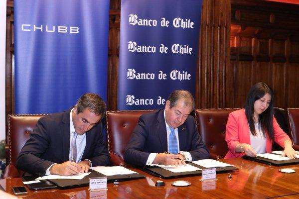 """ARTÍCULO: """"Banco de Chile sella acuerdo con aseguradora Chubb que incluye pago de casi US$ 220 millones"""""""