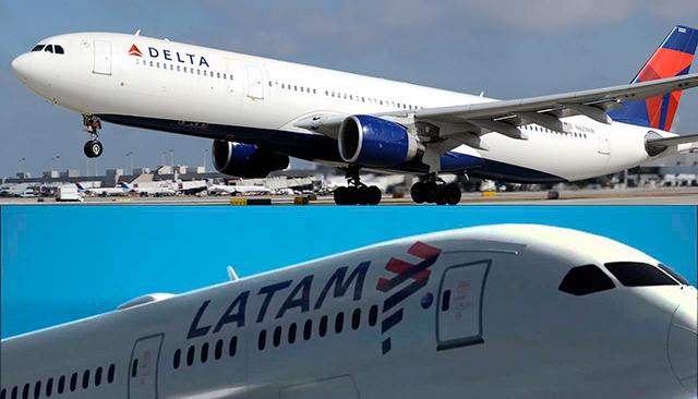 """ARTÍCULO: """"Delta y LATAM concretan acuerdo comercial que involucra códigos compartidos, conexiones y beneficios a viajeros"""""""