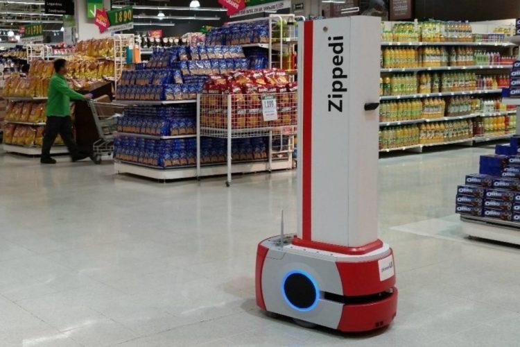"""ARTÍCULO: """"Robot Zippedi suma nuevas funcionalidades para combatir el coronavirus en supermercados y retail"""""""